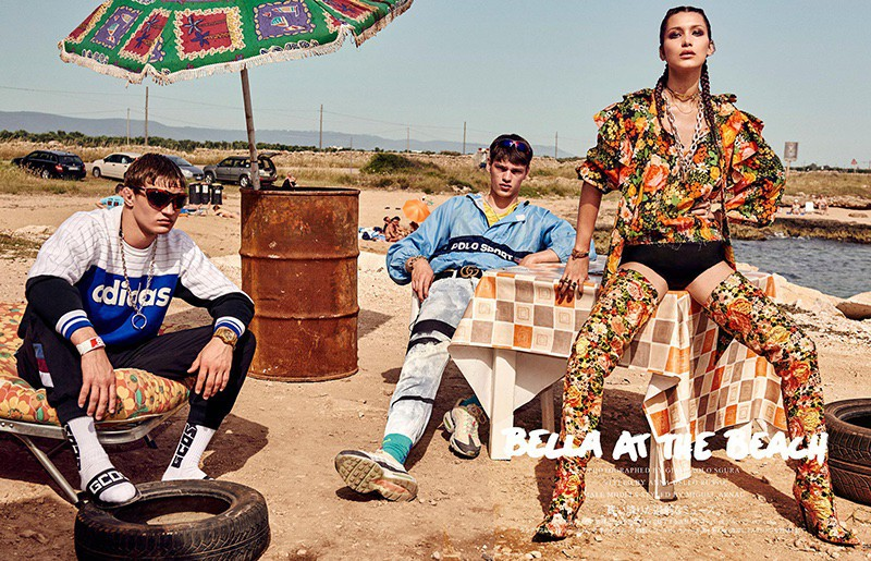 Filip Hrivnak for Vogue Japan with Bella Hadid