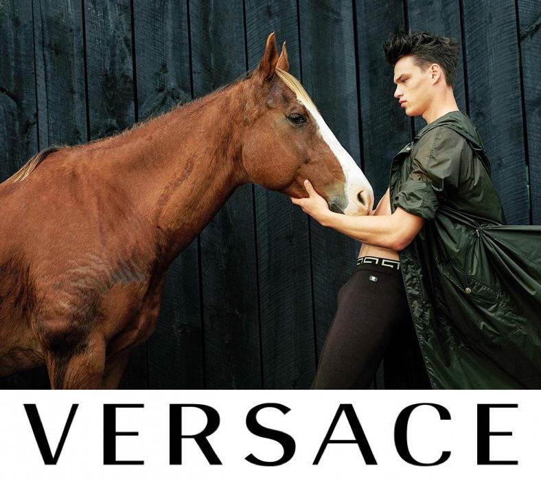 Filip Hrivnak for Versace SS17 Campaign