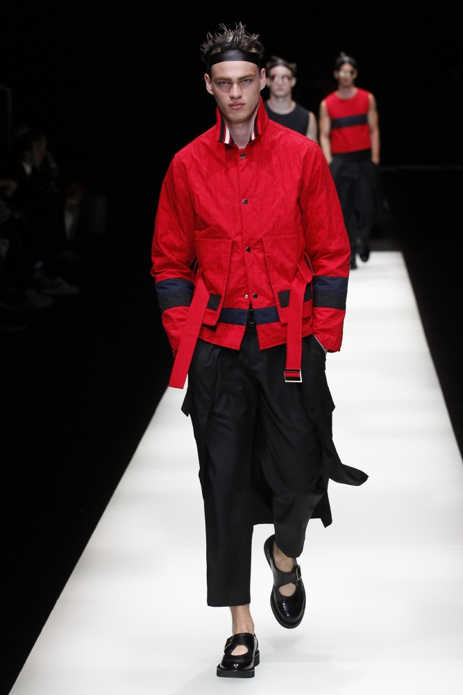 Filip & Wang for Emporio Armani SS18, Milan