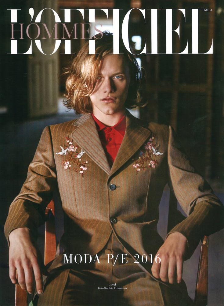 Ryan Keating covering L'Officiel Hommes Italia