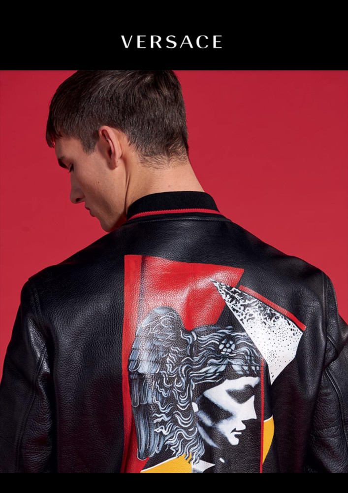 Tom  Models Versace Pre-Fall 2017 Menswear Collection