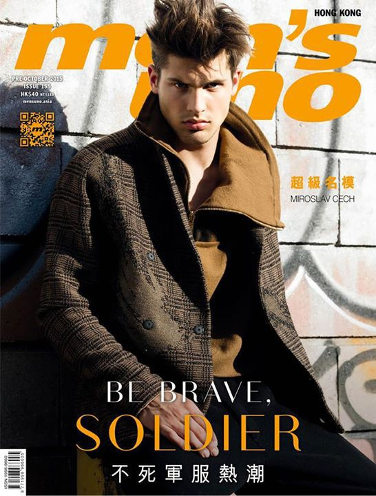 Miroslav Cech covering Men's Uno Oct Issue 2015