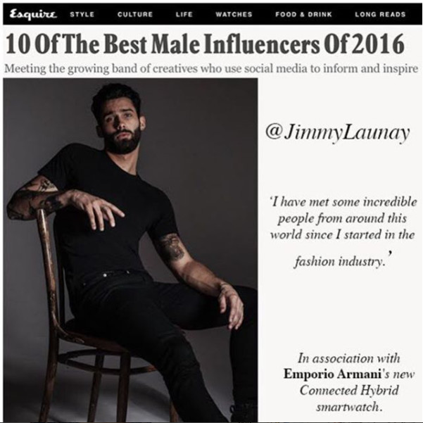 Jimmy on the  TOP 10 best influencers 2016