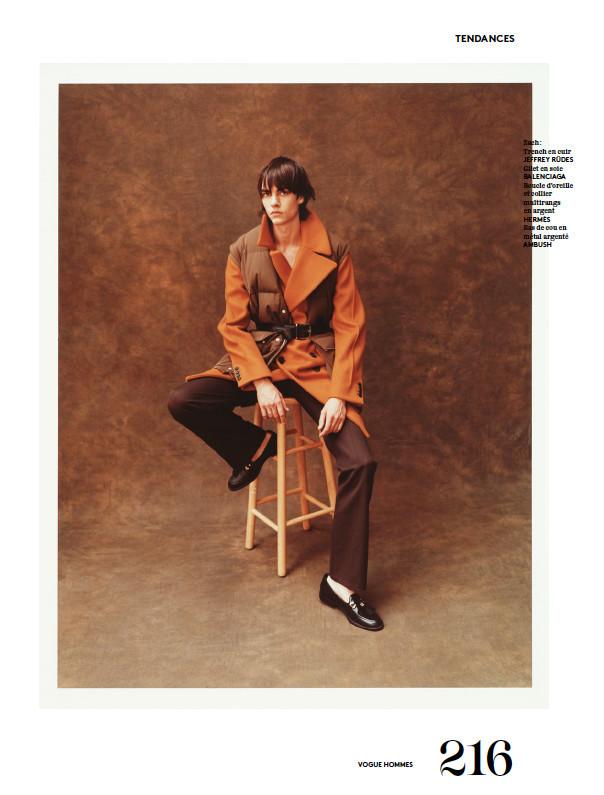 Doug For Vogue Hommes September Issue