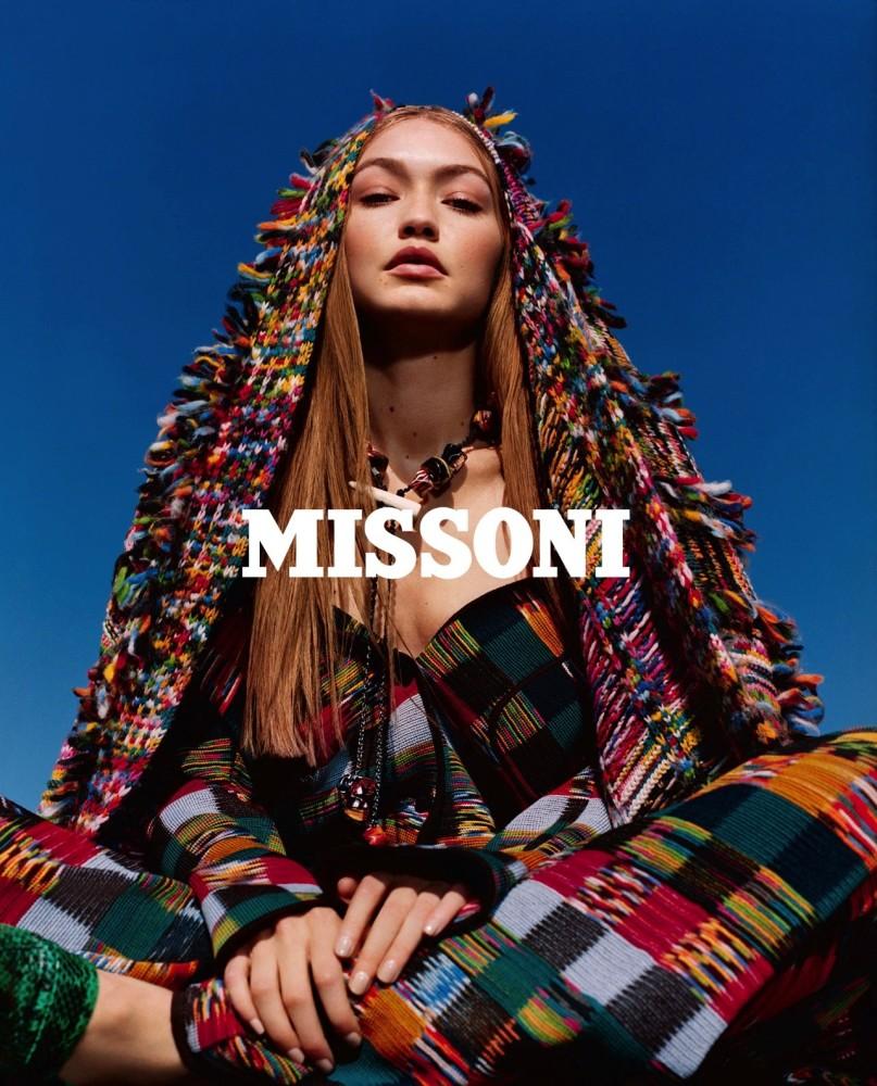 YASSINE For MISSONI FW18 Campaign With Gigi Hadid