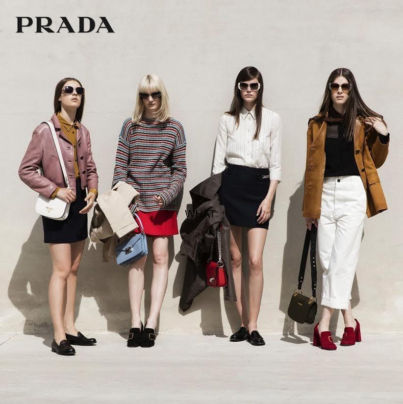 Kandy Chrusciel for Prada eyewear SS2017 campaign