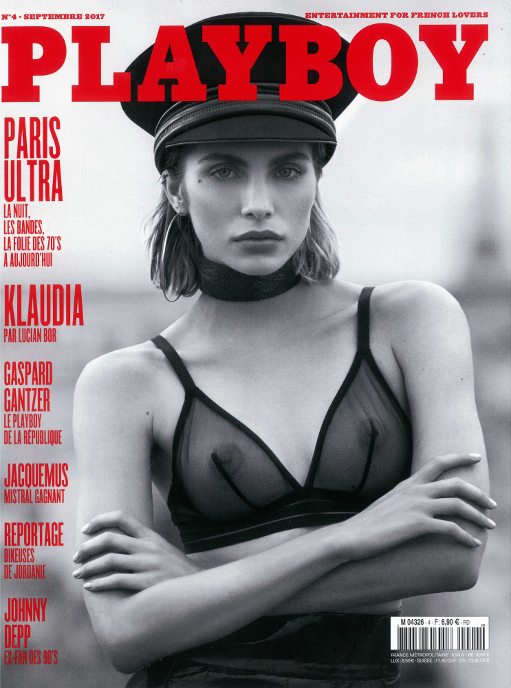 KLAUDIA KAPUSCINSKA COVERS THE LAST ISSUE OF PLAYBOY FRANCE