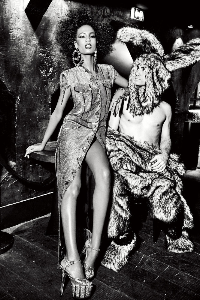 ARIELA SOARES FOR HUNGER MAGAZINE SHOT BY ELLEN VON UNWERTH
