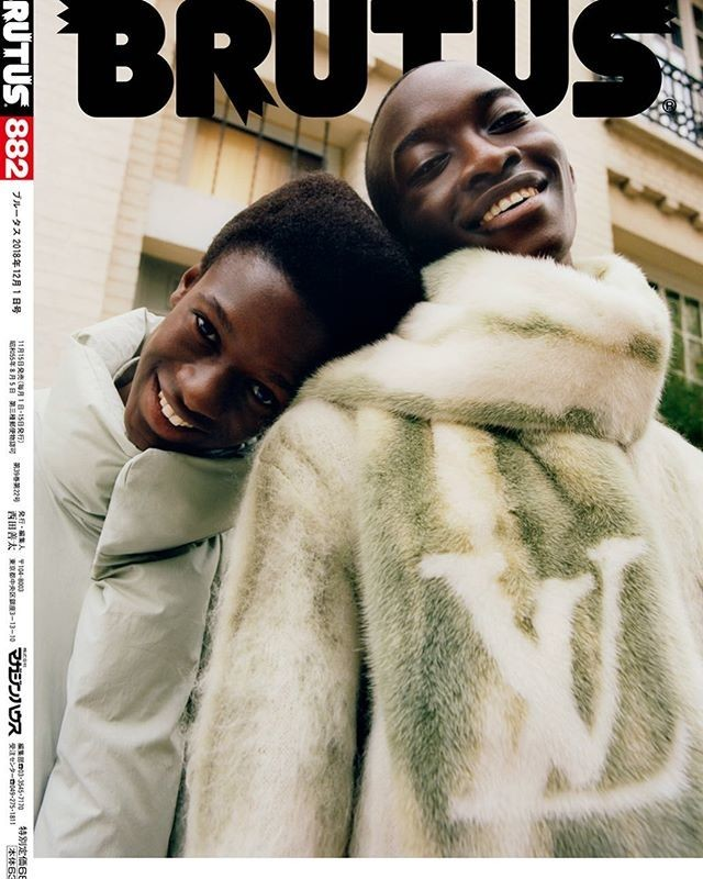 CHEIKH covers BRUTUS MAGAZINE