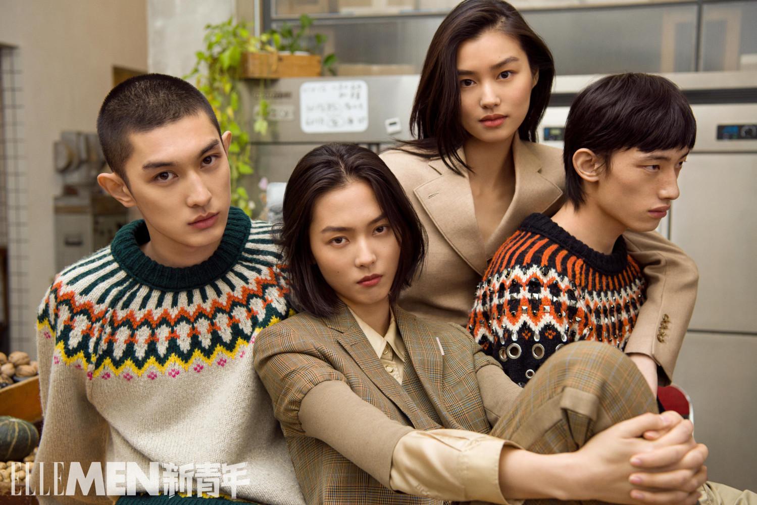 NI HAORAN COVERS ELLE MEN CHINA