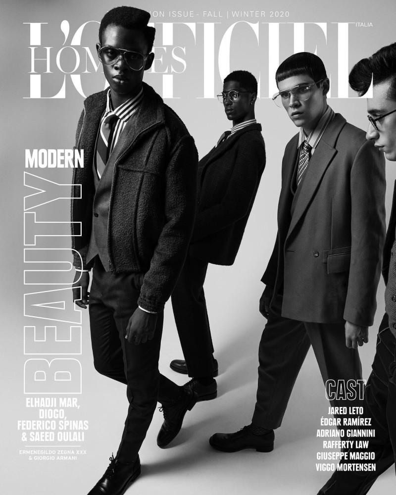 DIOGO, SAEED & ELHADJI For L'Officiel Hommes Italia cover
