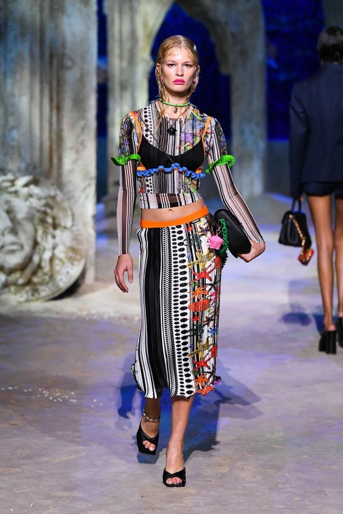 Britt O + Felice for Versace