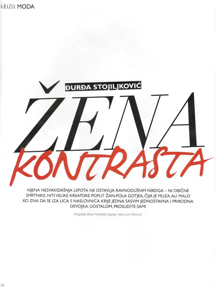 GRAZIA-Djurdja Stojiljkovic intervju