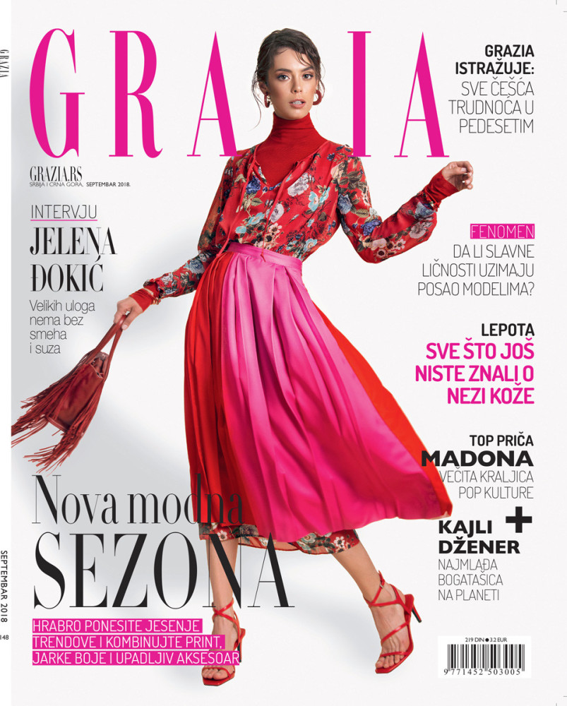 TEO Aleksic for GRAZIA, September 2018