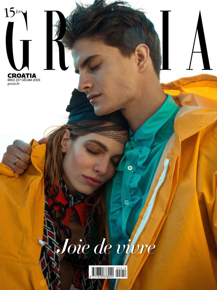 MIA JOKIC on digital cover for GRAZIA Croatia, 2019