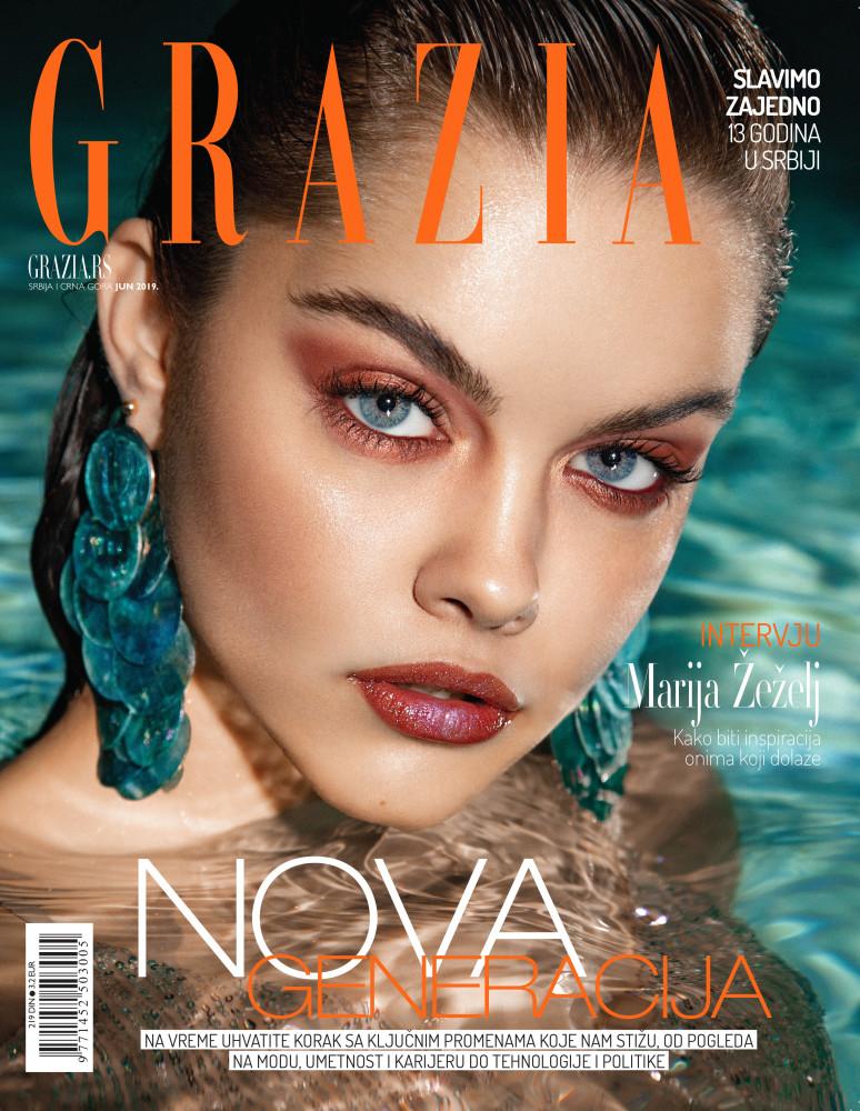 MARIJA ZEZELJ for  GRAZIA Cover story, June 2019