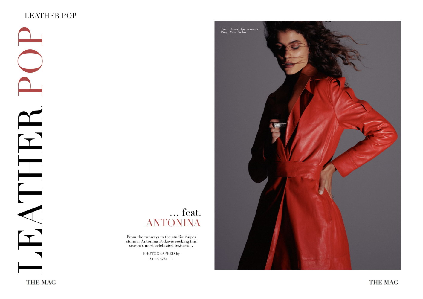 ANTONINA PETKOVIC BY ALEX WALTL FOR