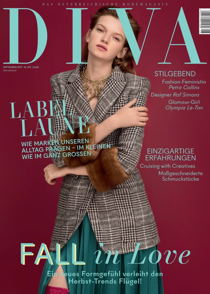 EVA KLIMKOVA FOR DIVA MAGAZINE SEPTEMBER 2017