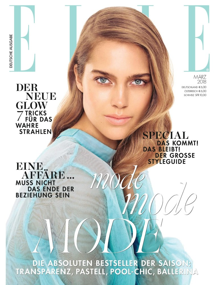 JULIA JAMIN FOR ELLE GERMANY MARCH 2018