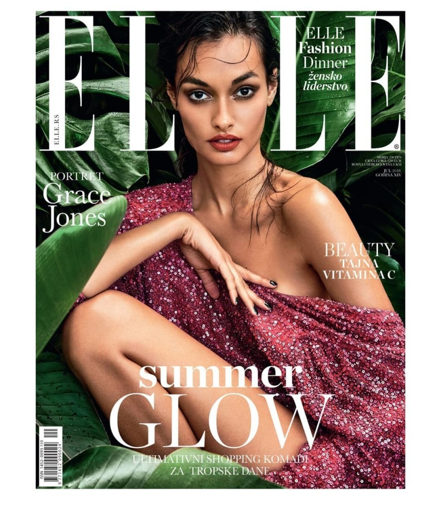 GIZELE OLIVEIRA FOR ELLE SERBIA JULY 2018
