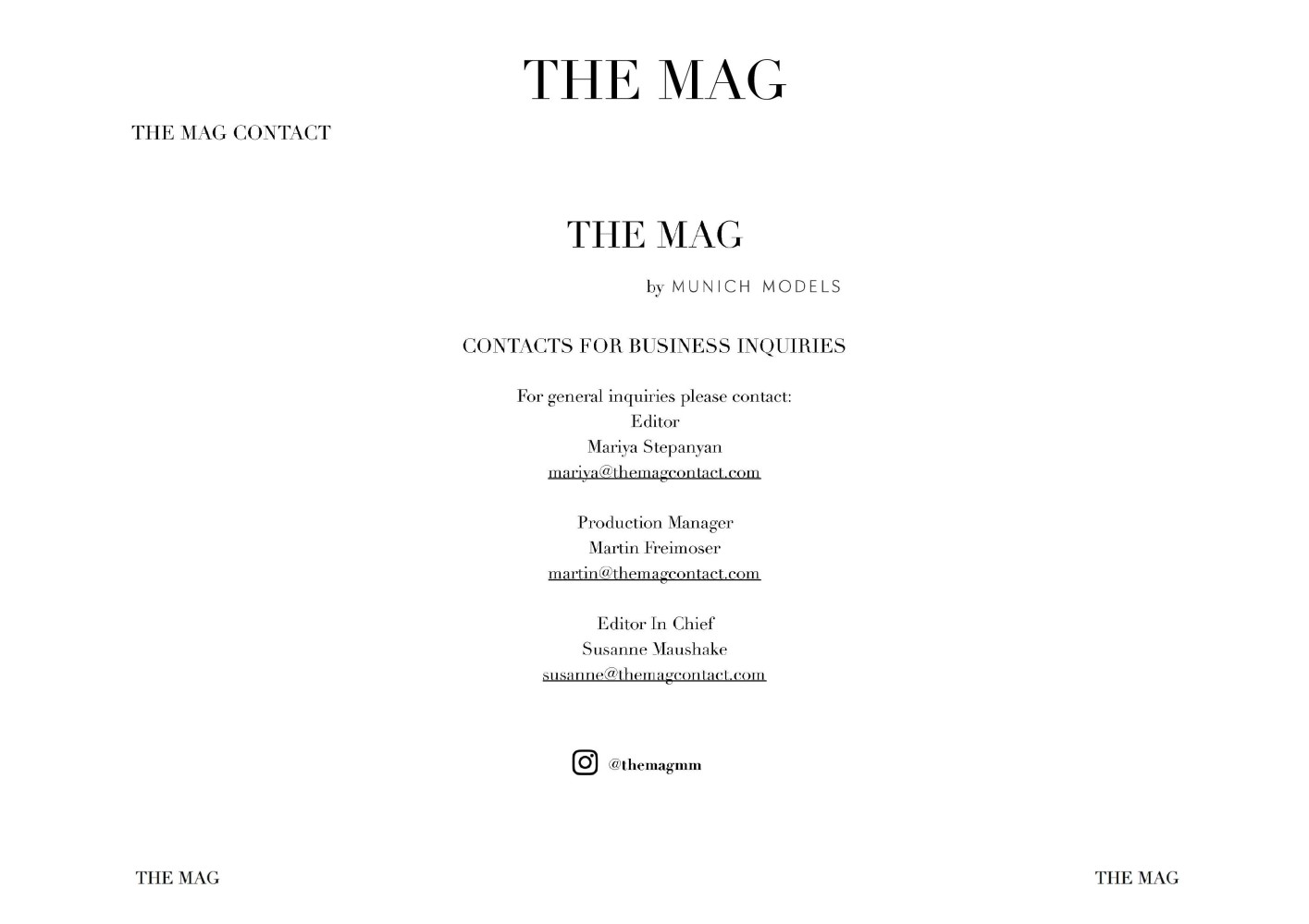 INTRODUCING THE MAG: OUR FIRST FULL ISSUE #SS20