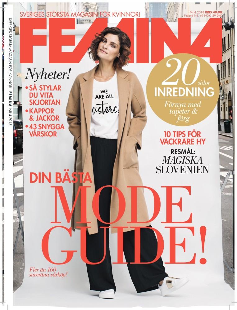 NADIA DASSOUKI FOR FEMINA SWEDEN APRIL 2018