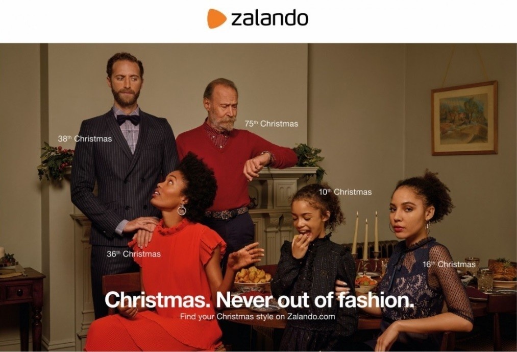 Fred, Joshua S, Saskia and Soline for Zalando Christmas 2018 Campaign