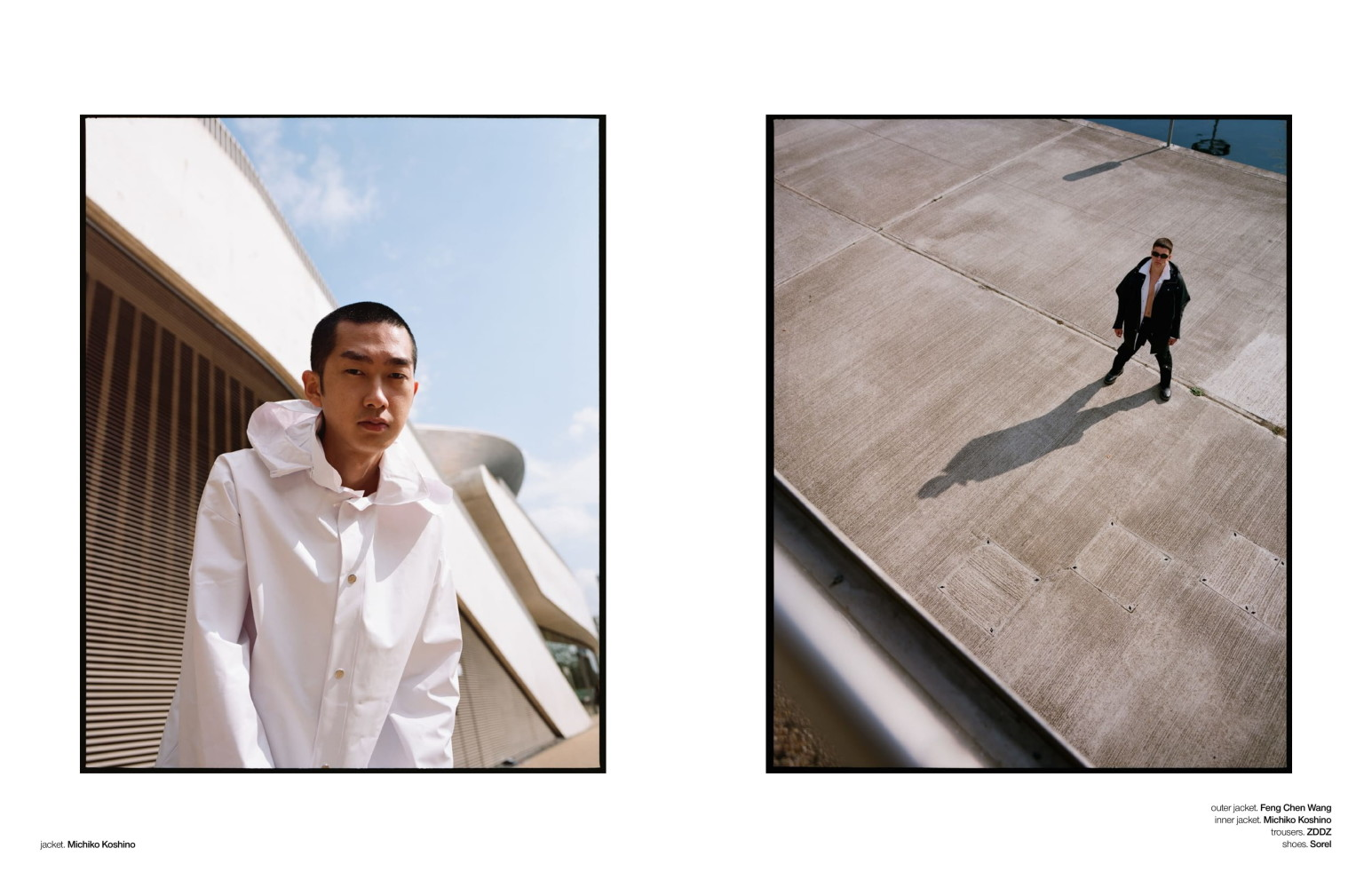 Keenan and Oscar for Schon Magazine