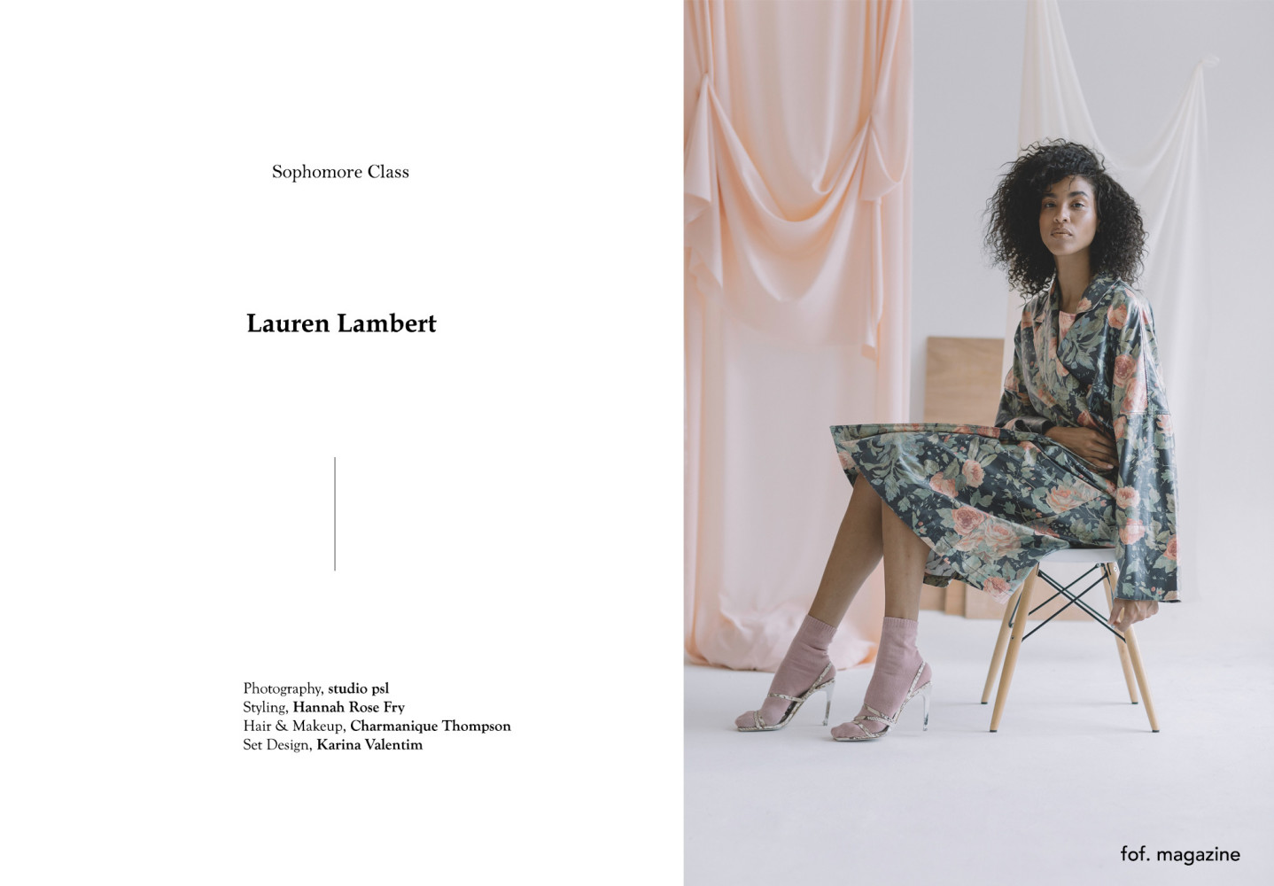 Lauren for Fabric of Fashion Magazine