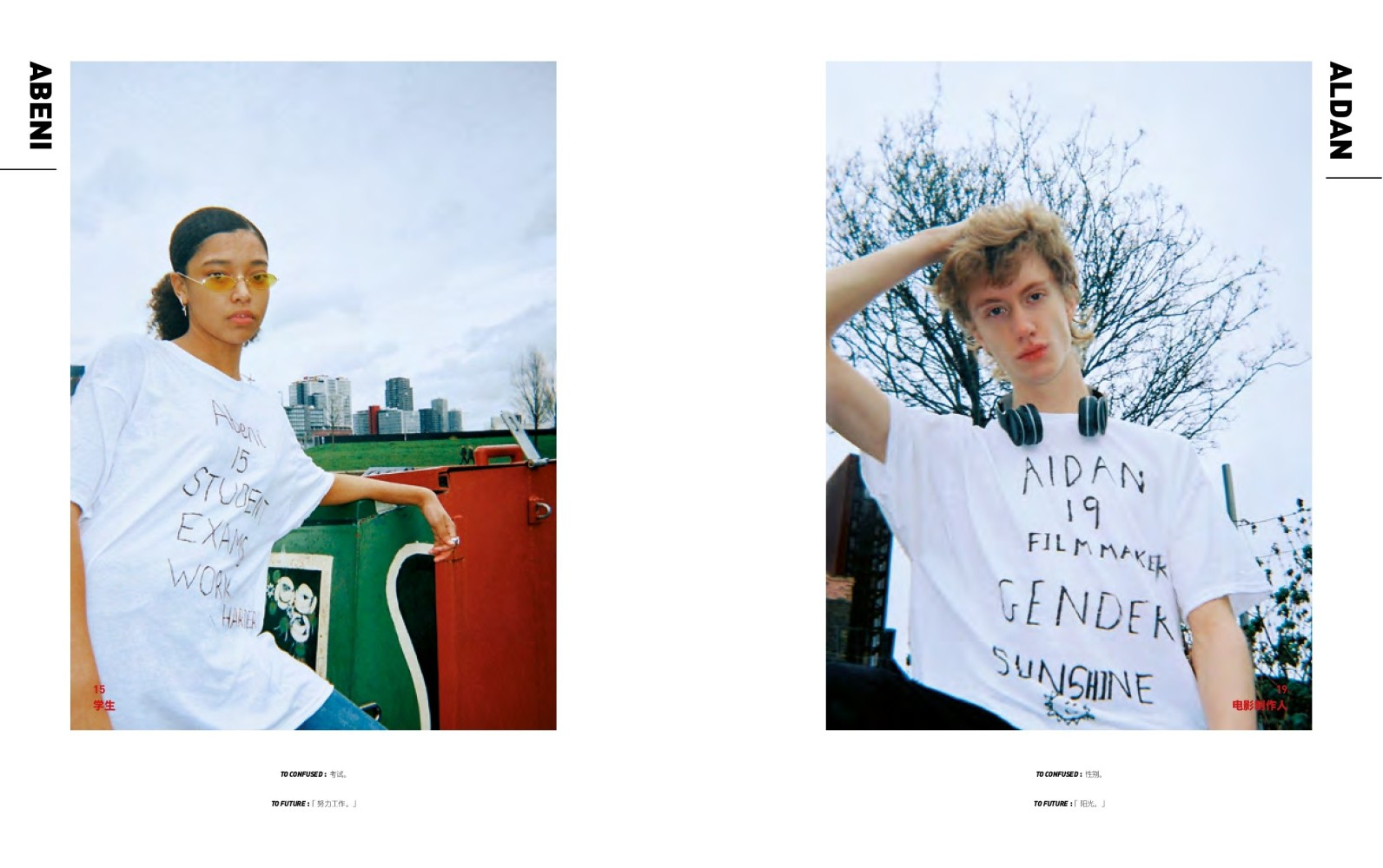 Abeni, Aidan, Joseph and Luca for YOHO! Magazine