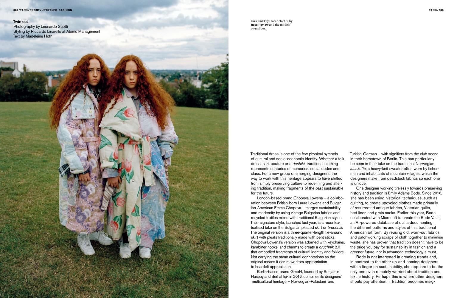 Kira & Taya for TANK Magazine