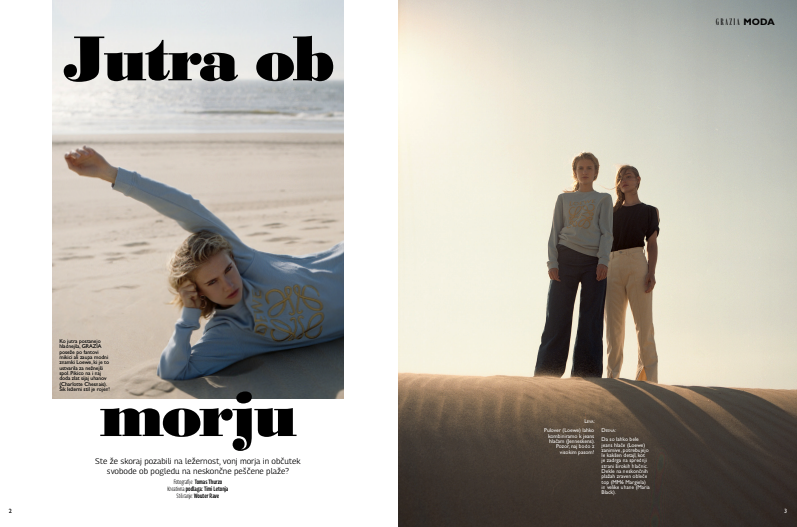 Evie and Kyria new for Grazia Slovenia Magazine
