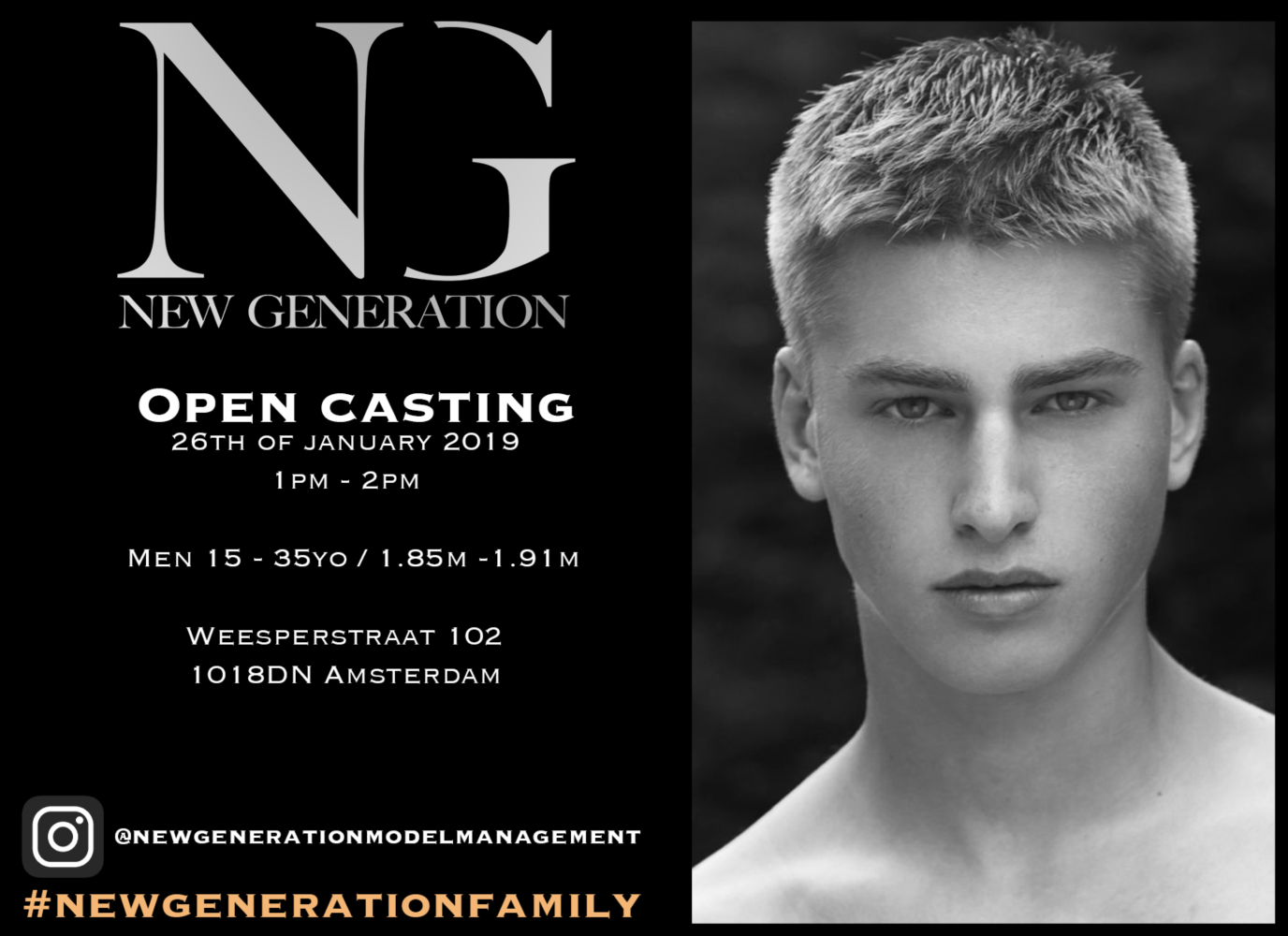 OPEN CASTING - 26th of January 2019!