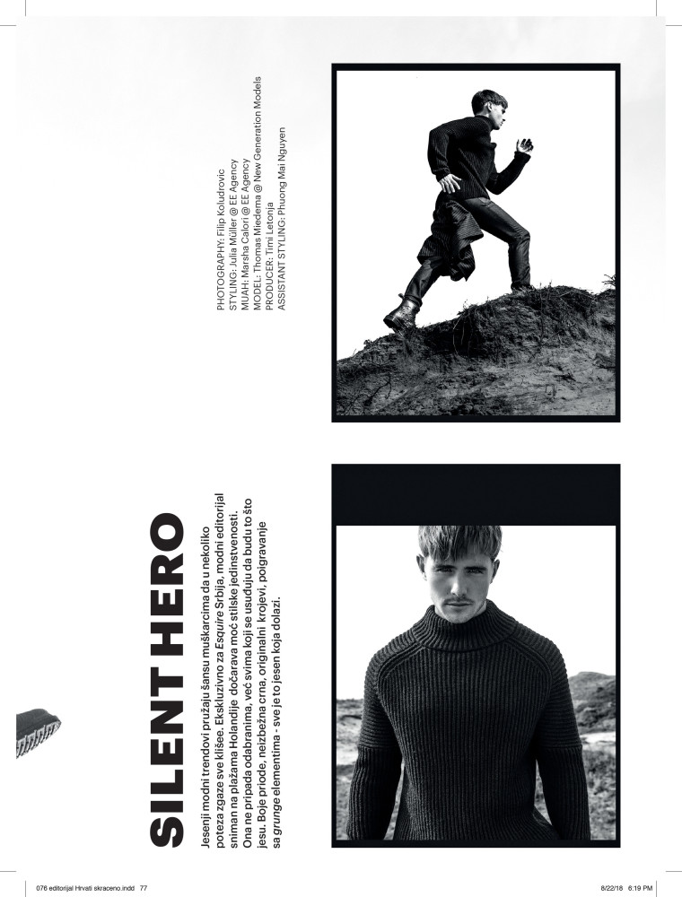 Thomas new for Esquire Serbia Magazine