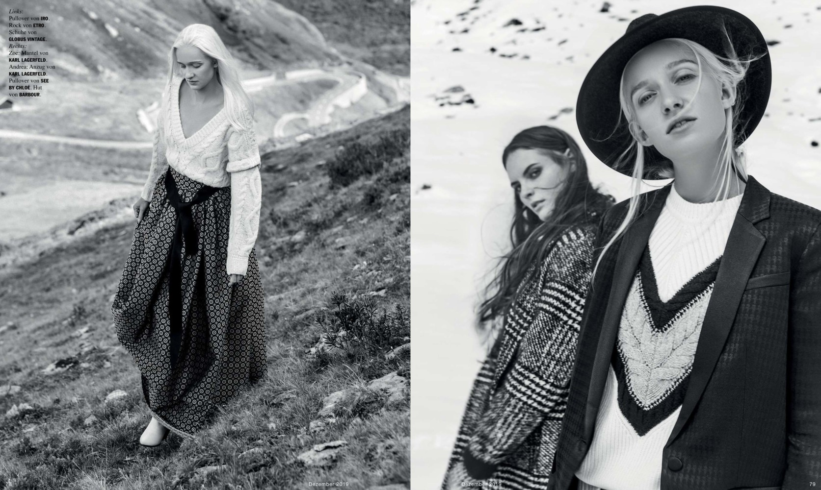 ZOE B. & ANDREA J. FOR FACES MAG