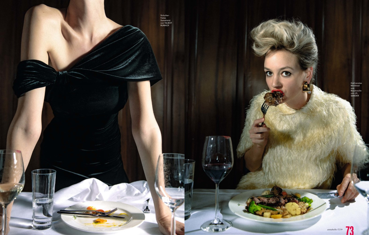 Dinner for one with Noreen for Annabelle Mag