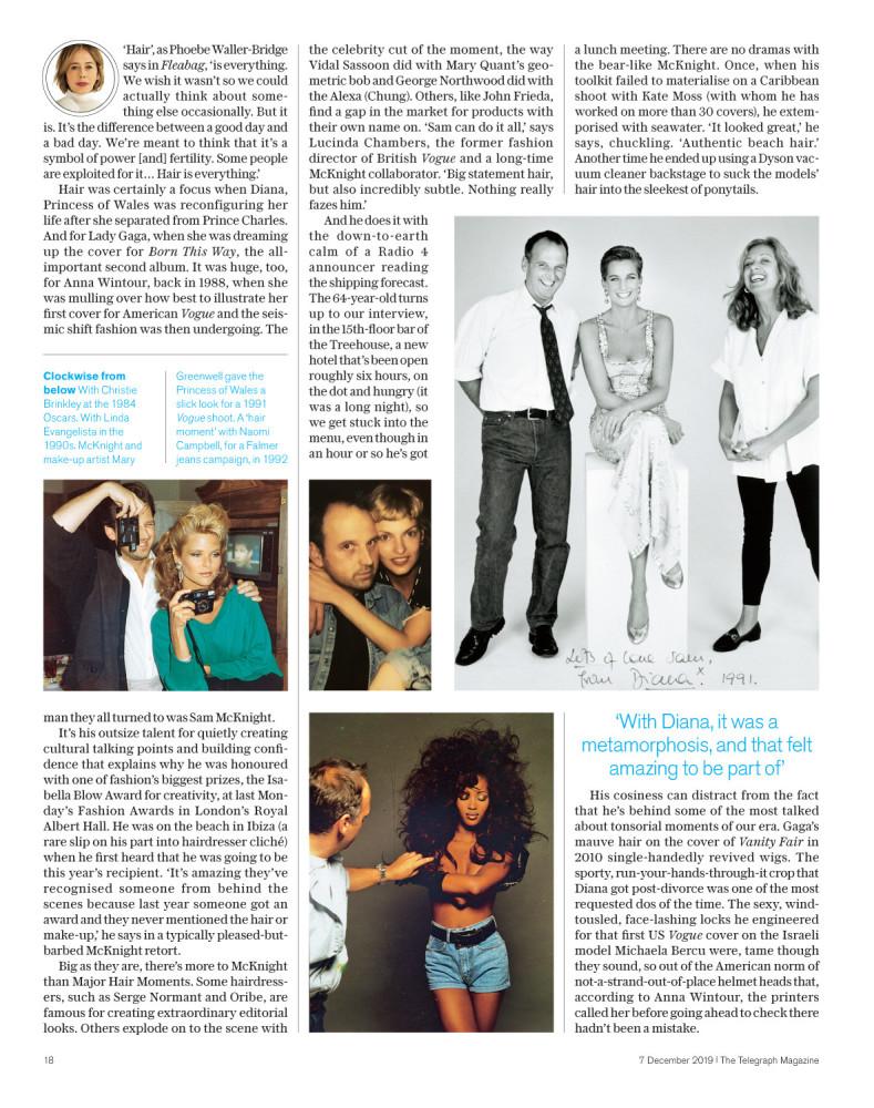 Daily Telegraph Magazine: Sam McKnight