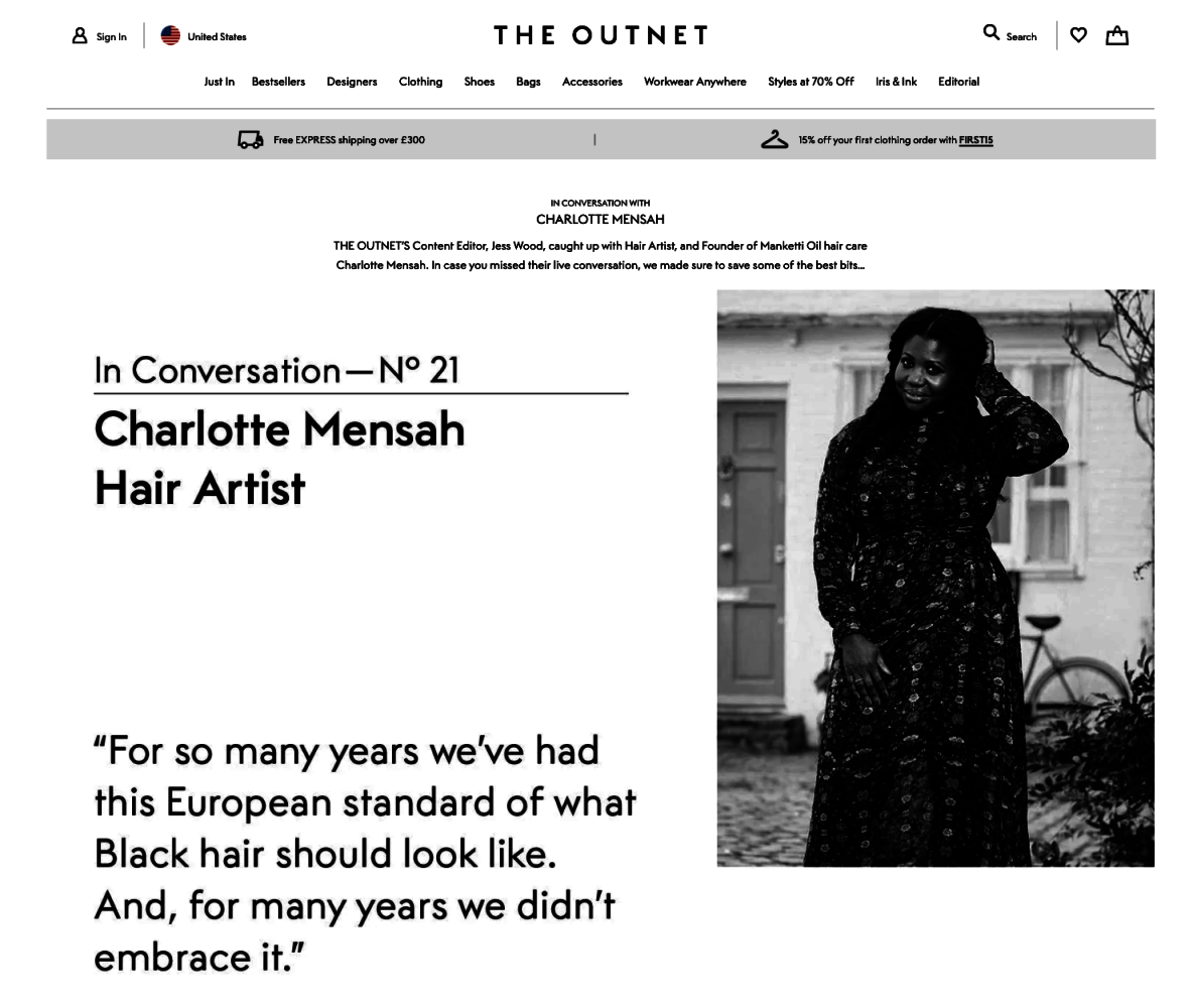 In Conversation with Charlotte Mensah at THE OUTNET