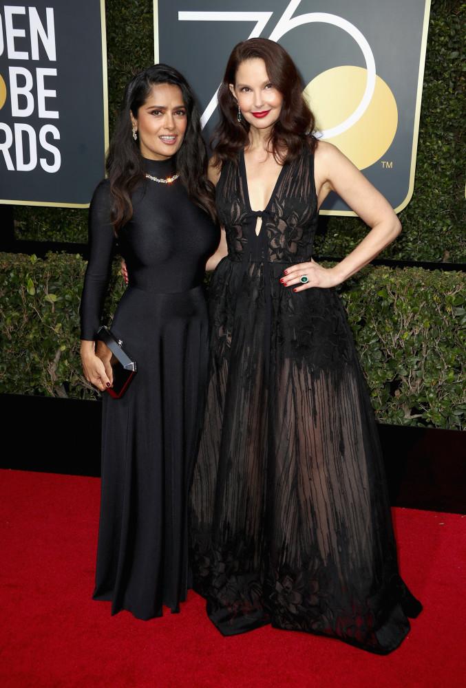 Salma Hayek And Ashley Judd Golden Globe Awards 2018