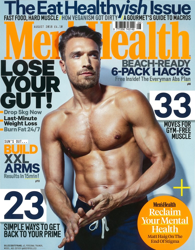 Mens Health UK August 2018 Issue- Gilles