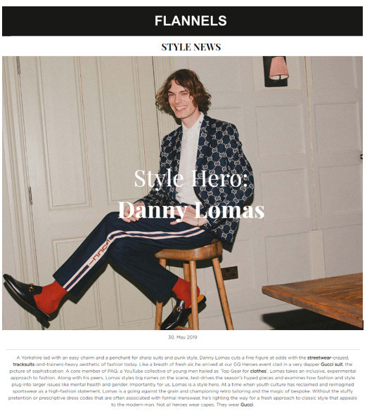 Flannels Style News- Style Hero- Danny Lomas