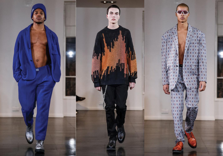 Noellan, Tom & Terence for LOUIS GABRIEL NOUCHI Menswear Fall Winter 2019