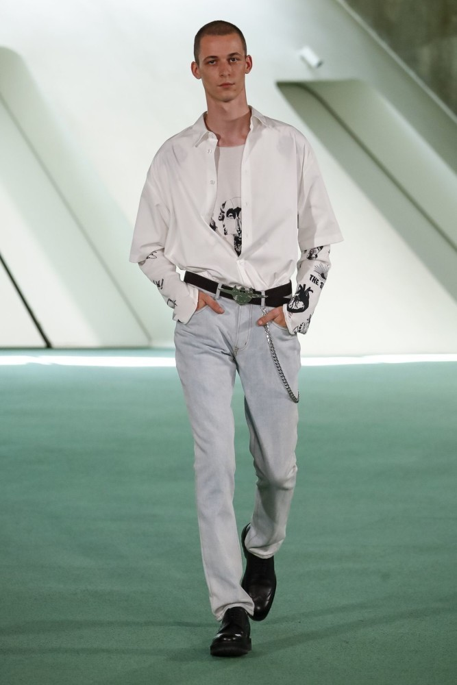 Jimmy for LOUIS GABRIEL NOUCHI Menswear Spring Summer 2020