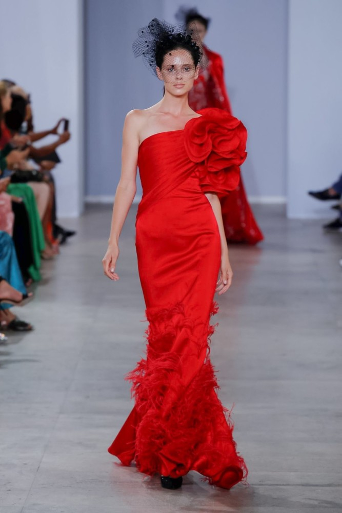 Dzeina for GEORGES CHAKRA Couture Fall Winter 2019