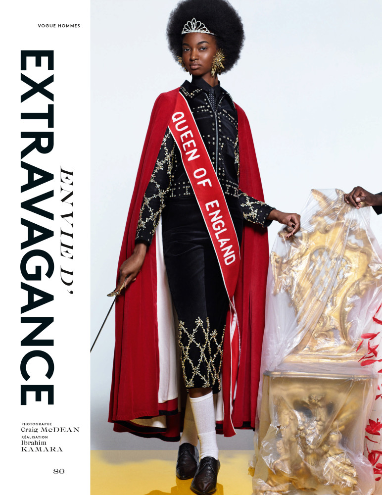 Sana for VOGUE HOMMES, Envie d'Extravagance