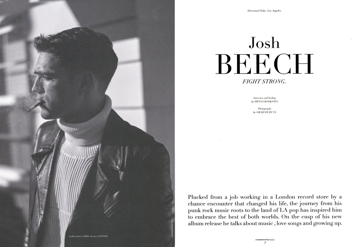 Josh Beech for Summerwinter Homme Magazine