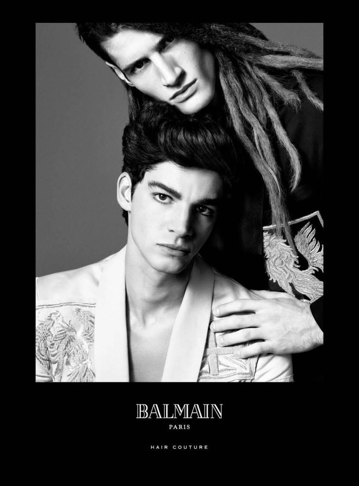 Tarik Lakehal for Balmain Hair Couture SS16