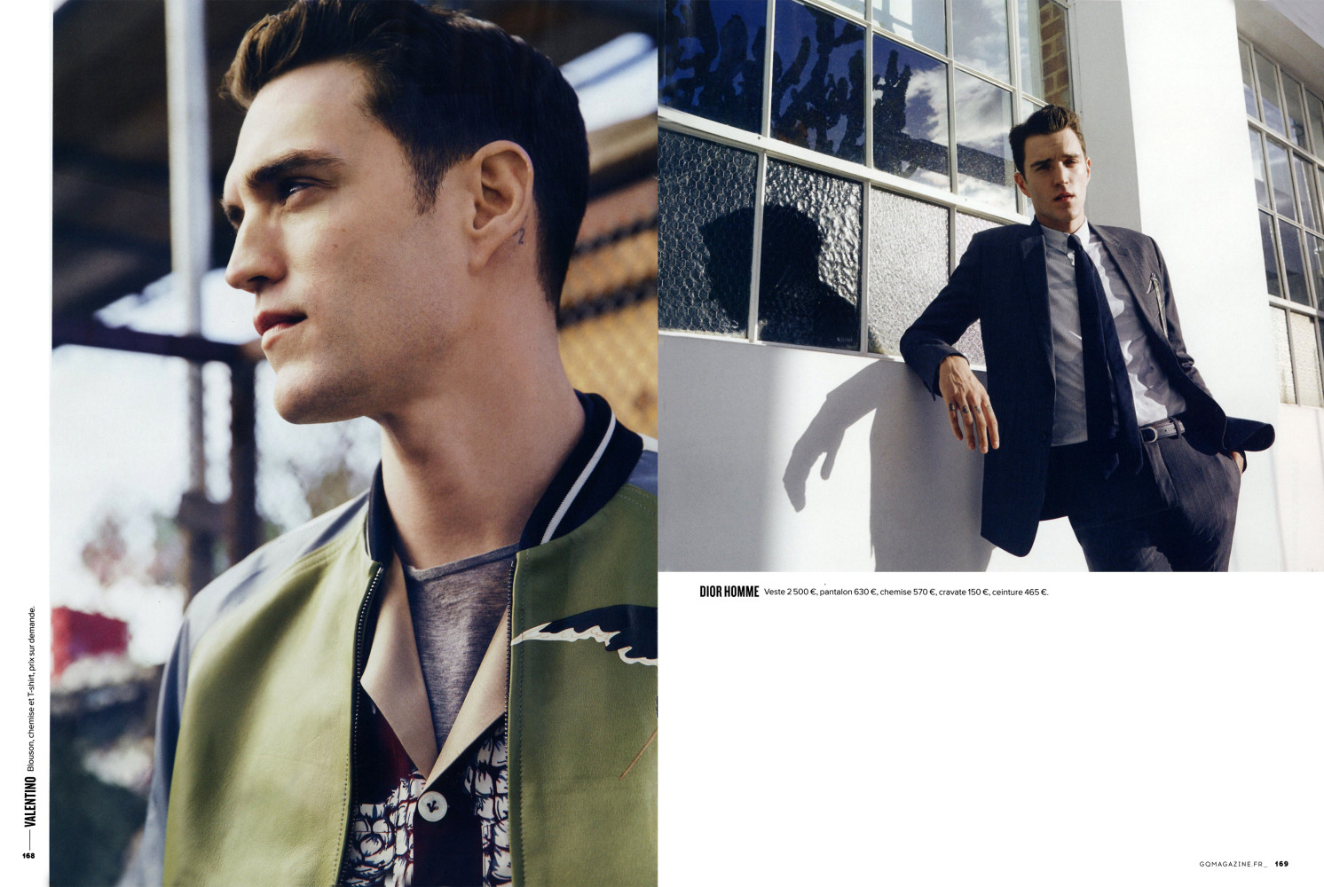 Josh Beech for QG France March 2016 Issue