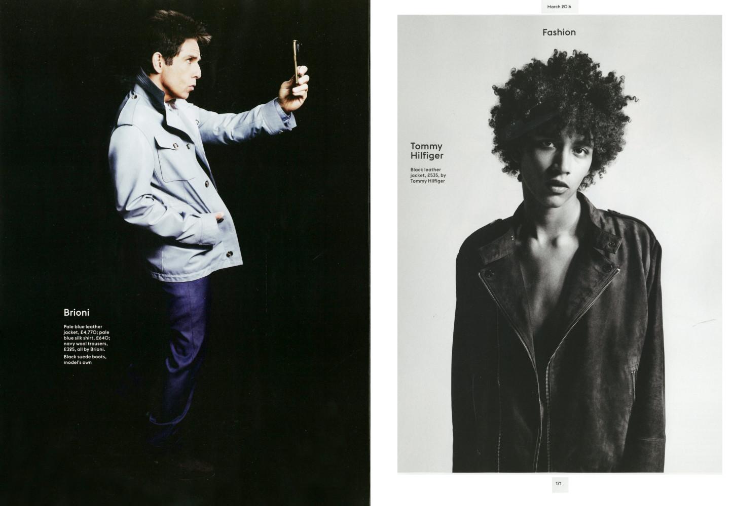 Jackson Hale and Ben Stiller for Esquire Magazine