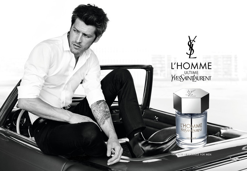 Vinnie Woolston in Yves Saint Laurent L'homme Ultime campaign